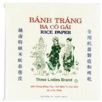 3 Ladies rice Paper Square 22 cm